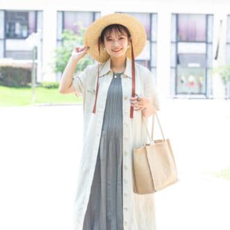 """【Today's merSNAP】""""縦ライン""""がポイント! スタイルアップする低身長さんのワンピコーデ"""