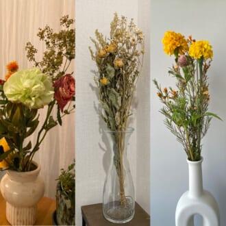 見るたび癒されるお花♡ モデルがリアルに飾ってる花束を大公開!