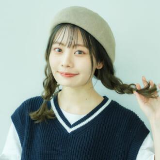 帽子好きモデルがレクチャー♡ 全方位可愛い「ベレー帽」に似合うヘアアレ