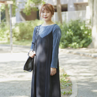 【Today's merSNAP】キャミワンピ、秋はどう着る? 大人女子が教えるレイヤードコーデ