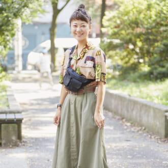【Today's merSNAP】脱シンプルコーデ! 古着女子の秋の柄シャツスタイル