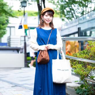 【Today's merSNAP】「ブルー」を主役に♡ 秋カラーで作る大人女子の3色コーデ