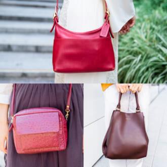 秋の定番カラー♡ 「赤色&茶色バッグ」で秋冬コーデを華やかに格上げ