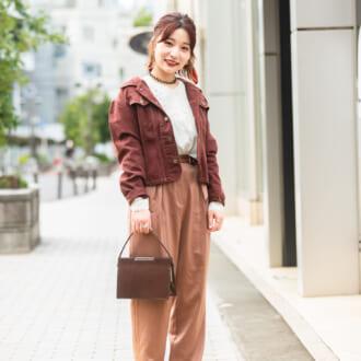 """【Today's merSNAP】""""抜き襟""""がポイント♡ 秋のGジャンスタイルをオシャ見せするテク"""