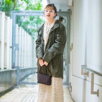 【Today's merSNAP】「ミリタリー×ワンピース」が可愛い♡ オシャレ美容師の甘辛MIXコーデ