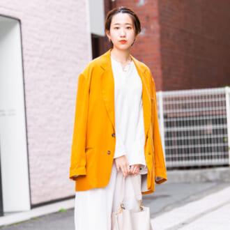 【Today's merSNAP】一点投入で華やかに♡ オレンジジャケットの大人な着こなしテク♡