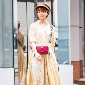 【Today's merSNAP】爽やかなイエローにプラス! ピンク小物のキレイ色コーデ