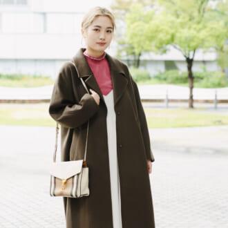 【 merSNAP】今年はブラウンがアツい♡ ロングコートで引き締める大人なカラーコーデ