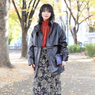 """【Today's merSNAP】""""ゴブランスカート""""でレディライクに♡ 甘辛MIXの大人レトロスタイル"""