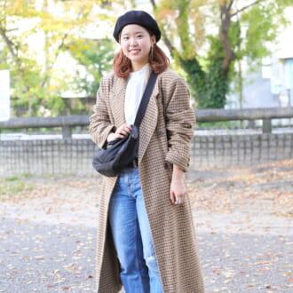 【Today's merSNAP】シンプルさが可愛い♡ トラッドなチェック柄コートで作るマニッシュコーデ