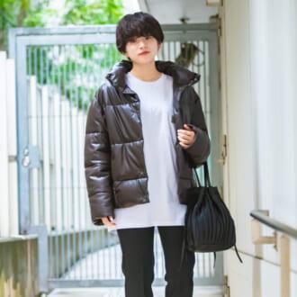 """【Today's merSNAP】やっぱりZARAが使える♡ 新顔""""レザーダウン""""で作る今っぽ冬コーデ"""