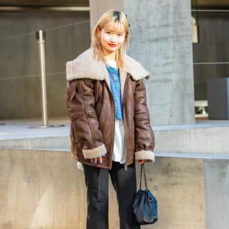 【Today's merSNAP】1枚でトレンド顔に♡ 「フライトジャケット」のセンス良しな着こなし方は?
