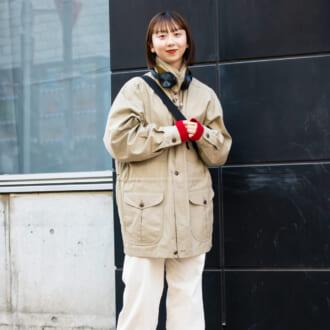 【Today's merSNAP】キレイめカラーがポイント♡ ベージュ×ホワイトで作る大人ミリタリーコーデ
