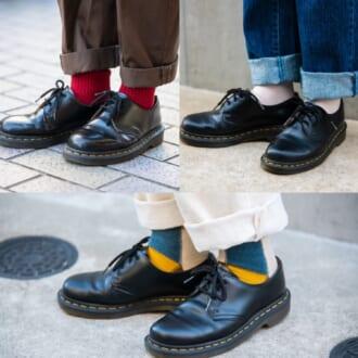 【足元SNAP】3ホールマーチンに合う靴下は? オシャレさんの最新足元をチェック!