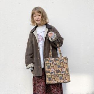 【Today's merSNAP】「スウェット×スカート」が黄金コンビ♡ 古着アイテムで作る大人のゆるかわコーデ