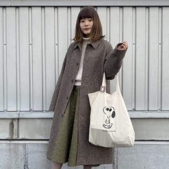 【Today's merSNAP】コート×スカートは丈感が大事♡ ユニクロアイテムで作るほっこりコーデ