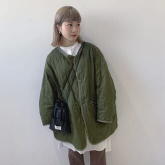 【Today's merSNAP】春もキルティングコートが使える♡ ファイナリスト・鳥居 蒼のカジュアルコーデ