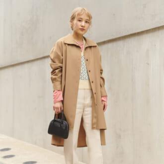 【Today's merSNAP】「変形コート」でスタイルアップ♡ こなれ感溢れる春カラーコーデ