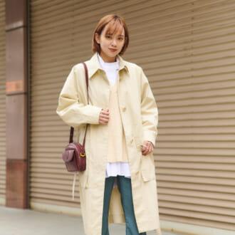 【Today's merSNAP】ユニクロの春コートが可愛い♡ 女性らしさ漂う旬のレイヤードコーデ