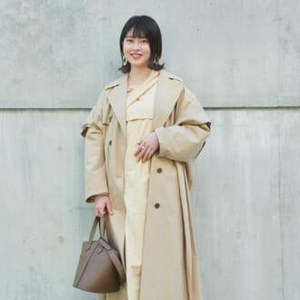 【Today's merSNAP】淡色好き必見♡ キレイめトレンチで作る最春「ベージュコーデ」
