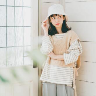 迷ったらコレ見て♡ 流行りすぎてもはや定番「ニットベスト」2021春最新着まわし3