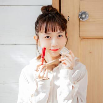 """""""ピンク×ラメ""""でレディに仕上げる♡ merモデルの春コスメ"""