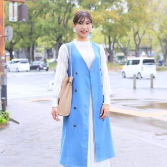 【Today's merSNAP】「ロングベスト」の重ね着でこなれ感をGET♡ 大人女子の甘辛MIXコーデ