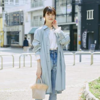 【Today's merSNAP】今季注目の「ブルー」で春めいて♡ 大人女子のフレンチルック