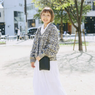 """【Today's merSNAP】「×古着」でカジュアルダウン♡ 大人女子の""""白スカート""""コーデ"""
