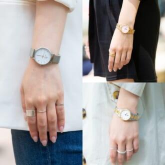"""""""ゴールド"""" or """"シルバー""""、あなたはどっち? オシャレ女子が愛用している「腕時計」はコレ!"""