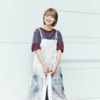 【Today's merSNAP】主役級「柄ワンピ」でキメる♡ オシャレさんが教える初夏の重ね着テク