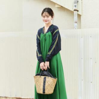 【Today's merSNAP】「キャミワンピ」は重ね着が◎。上級者が教える初夏のワンピ着こなしテク