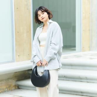 """【Today's merSNAP】ヘルシーな""""肌見せ""""が可愛い♡ キレイめシャツで作る「好感度UPコーデ」"""