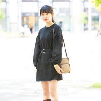 【Today's merSNAP】「ミニワンピ」で大人可愛いをGET♡ 小物を効かせた甘辛MIXコーデ