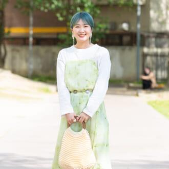 【Today's merSNAP】今夏も「タイダイ柄」が可愛い♡ 透けワンピで作る爽やかコーデ