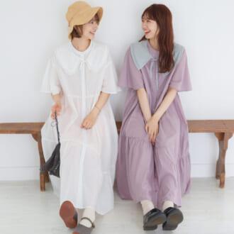 【mikke新作】組み合わせで楽しむ♡ この夏着たい、ティアードワンピース×付け襟をチェック!