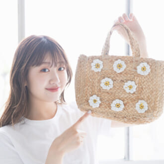 一点投入で夏らしさをプッシュ♡ merモデルの「かごバッグ」を大公開!