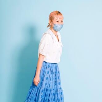 mer STAFF抜き打ちコーデチェック/お花をたっぷり散りばめた青×白STYLE