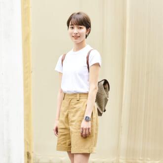 【Today's merSNAP】シンプルなのにアカ抜ける! 大人の「Tシャツ×ハーフパンツ」コーデの作り方
