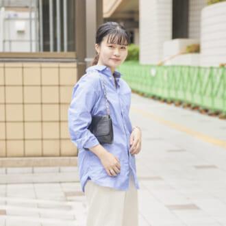 【Today's merSNAP】ユニクロのシャツが大活躍! 水色×白の爽やか大人ルック