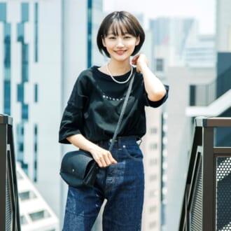 黒をクラシカルに着たい! yukinoが実践する重たくならない「黒T」着まわし