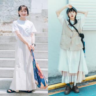 """<2021夏オシャレ女子のファッション事情>やっぱりセンス良し!""""オールホワイト""""コーデ"""