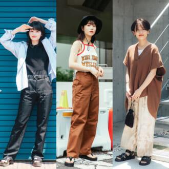 <2021夏オシャレ女子のファッション事情>厚底サンダルでスタイルアップがお約束!最旬パンツコーデ