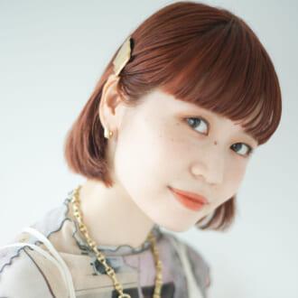 <最強オシャレな上半身の作り方>美容師流、オレンジカラーヘア&メイクが可愛すぎ!