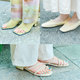 【足元SNAP】1足持っていれば靴選びに困らない! オシャレさん愛用の「スクエアトゥシューズ」