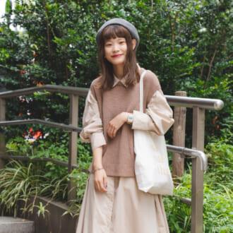 【Today's merSNAP】靴下の「チェック柄」がポイント♡ 秋のワンピコーデ