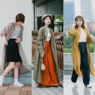 1枚羽織って秋ムードをまとう。「シャツワンピース」はカラーと質感に注目!